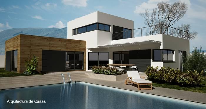 Casas Modernas E Baratas Para Construir Facadepatio Planta Simples